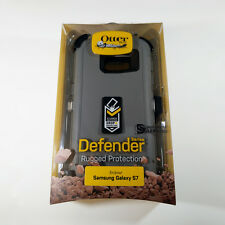 New Otterbox defender case Samsung Galaxy S7 Glacier Gray / White w/ belt-clip