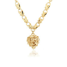 18K Yellow Gold Filled Vogue Woman's Heart Shape Pendant Necklace Chain Jewelry