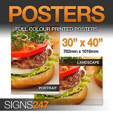 """30"""" x 40"""" Full Colour Gloss Stampa Poster-CONSEGNA GRATUITA!"""
