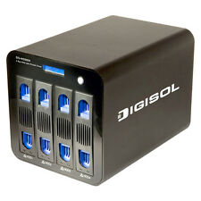 Digisol DG-NS5004 Network Attached Storage with Private Cloud 4 Bay (Box Open)