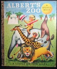 Rare Little Golden Book Albert's Zoo Un-punched Stencils Book Richard Scary #112