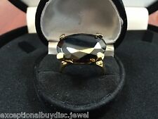 8CTW LCS BLACK  DIAMOND ENGAGEMENT COCKTAIL RING SZ 5 SZ 6 + gift