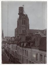 PHOTO Vintage vers 1910 - SENS FRANCE YONNE - Cathédrale Réparation Campanile