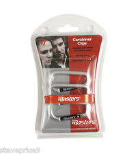 MASTERS GOLF PACK OF 3 CARABINER CONNECTOR FOR TOWELS AND ACCESSORIES