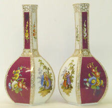 2 x Vase vierseitige Vase # Vasenpaar # Vasen Paar # DRESDEN # Boucherszene