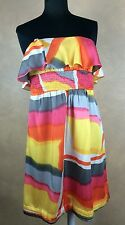 Sharon Couture Colorful Sleevless Exposed Back Zipper Cocktail Dress Large