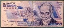 MEXICO 20000 20 000 PESO NOTE , P 92 a  issued 01.02. 1988