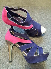 PINK & PURPLE PLATFORM STRAPPY HEELS SIZE 39/6 SEXY PARTY CLUB DISCO BRAND NEW