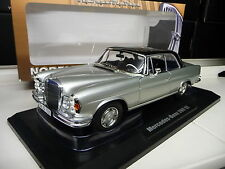 1:18 NOREV MERCEDES 280se coupé w111 silver/Black NEUF NEW