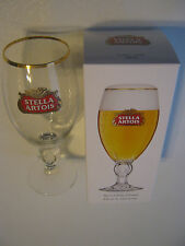 Belgium Stella Artois Gold Rim Beer Glass Ltd.Edition With Original Box
