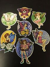 Faries Butterfly Girls  Vending Machine Sticker Lot of 7 NEW skateboard,parties