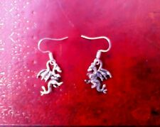Dragon Silver earrings Game Of Thrones Gothic Punk Steampunk Kitsch Retro Lolita