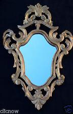 GRAND MIROIR ANCIEN VÉNITIEN ROCAILLE BOIS DORE ROCOCO LOUIS XV 83 cm. - MIRROR