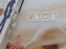 METAL NAUTICAL MARINE ANCHOR RUDDER BOAT LIGHTHOUSE MINI BOOKMARK CLIPS x 4