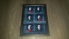 """GAME OF THRONES CASTX6 SIGNED FRAMED A4 12""""X8"""" PHOTO POSTER MANY FACED GOD S6"""