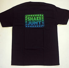 SHAKE JUNT BOX LOGO BLACK BLUE T SHIRT SIZE LARGE SKATE SKATEBOARD LIKE BAKER