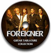 FOREIGNER ROCK GUITAR TABS TABLATURE SONG BOOK SOFTWARE CD