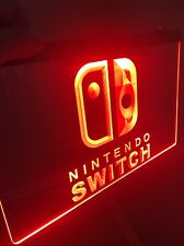 NEW NINTENDO SWITCH Sign for Game Room,Office,Bar,Man Cave US SELLER.