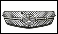 Chrome Black Front Hood Grille Grill E63 Type For BENZ W212 E250 E350 E550 Sedan