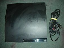 Sony PlayStation 3 Slim 160 GB Charcoal Black PS3 Video Console CECH-3001A 160GB