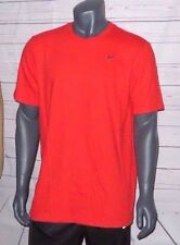 MEN'S SIZE LARGE NIKE T-SHIRT CLASSIC SEWN IN SWOOSH LOGO RED / GRAY 651505 600