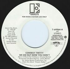 CONWAY TWITTY We Did But Now You Don't ((**NEW 45 DJ**)) from 1982