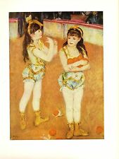 "1960 Vintage RENOIR ""TWO LITTLE CIRCUS GIRLS"" LOVELY COLOR offset Lithograph"