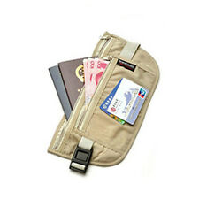 Travel Security Money Ticket Passport Holder Waist Belt Pouch Bag Wallet Purse