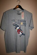 NEW! Mens LEVI's Heather Beautiful California Graphic Tee Gray T-Shirt SMALL S