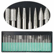 "New 30pc Diamond Burr Set 1/8"" Shank 600 Grits Dremel Type Rotary Tool #8230DD60"