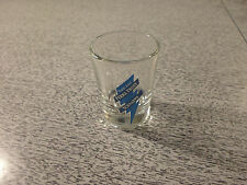 Yukon Jack Shot Glass Perma Frost Schnapps Clear Blue                          c