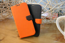FENICE Diario Ver.2 Samsung Galaxy S4 Premium Italian PU Leather Case - Orange