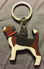 COACH LIMITED EDITION BEAGLE PUPPY HOUND DOG KEYRING KEYCHAIN KEYFOB KEY LEATHER