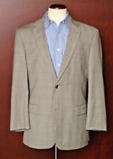Hugo Boss Men's Light Gray Plaid Check All Season Wool Suit 42R 42 Regular
