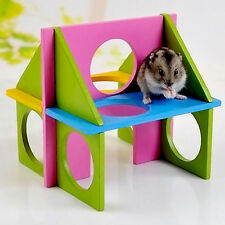 Funny Toy Mouse Rat Hamster Wooden Natural Gym Playground Exercise Colorful New