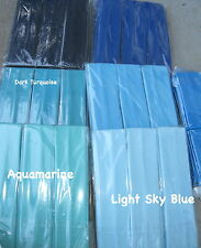 """6 SHADES of BLUE  Headbands 2"""" wide ontinuous stretch LOT Nylon colors"""