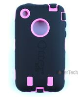 Black Pink Authentic Otterbox Defender Series Case Cover For Apple iPhone 3G 3Gs