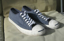 Converse Jack Purcell Blue Plaid Sneakers US Men's 12, Wo's 13.5 UK 11 EU 4