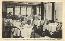 Norfolk CT Hotel Martini Dining Room c1915 Postcard