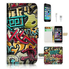iPhone 7 (4.7') Flip Wallet Case Cover P0744 Graffiti Music