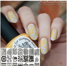 Nail Art Stamp Stamping plaque Template Image Plate BORN PRETTY L008 12.5 x6.5cm