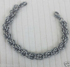 Stainless Steel Fieldstone Chain Maille Medical ID Replacement Bracelet