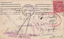 WW1 ANZAC 29th Battalion A.I.F 1918 cover to Hazelhurst Summers 1d KGV stamp