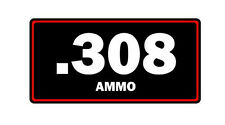 .308 ammo label can vinyl sticker decal bumper gun rifle bullet glock ak47 ar15
