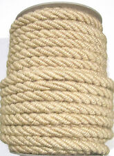 1 Mtr Jumbo Jute Rope 10mm Natural ~ Continuous-Lengths