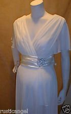 New Ivory Chiffon Vneck Sleeves Maternity Dress Cocktail 2X Bridal Wedding