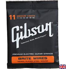 Guitarra Eléctrica Cuerdas Gibson Brite Wires medio Luces 11-50