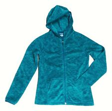 Tek gear Women's Size Small Light Green Full Zip Hooded Fleece Jacket NEW