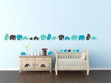 Elefantes Infantil Animales Calcomanías De Pared De Vinilo De Decoración Hogar citar habitación