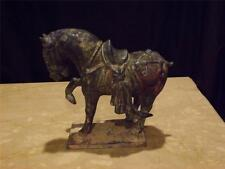 VINTAGE CHINESE TERRACOTTA TANG DYNASTY PRANCING HORSE SCULPTURE